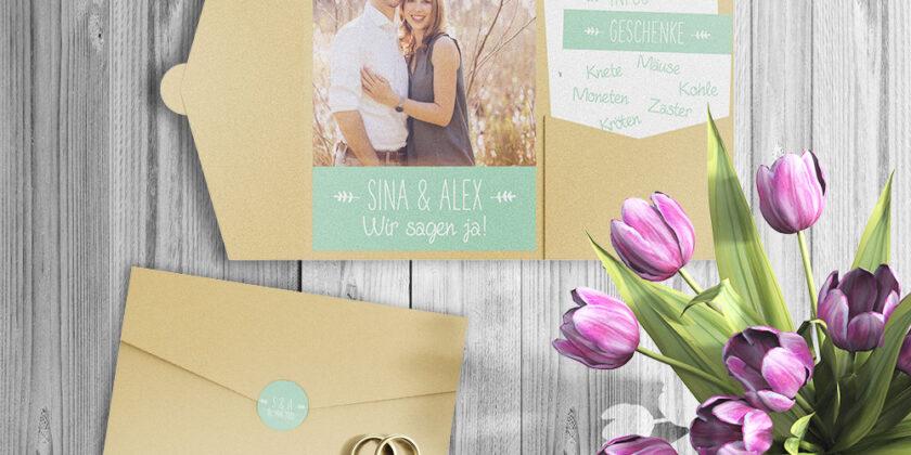 Hochzeitseinladung – Sina & Alex