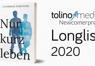 Nur kurz leben auf der Longlist des tolino media Newcomerpreis 2020