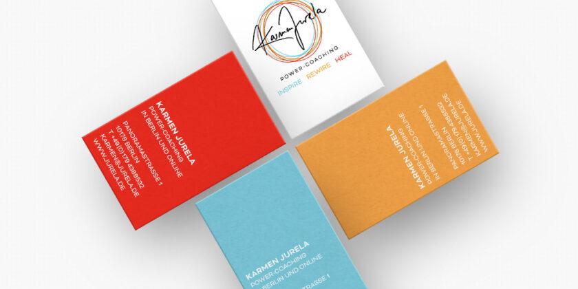 Logo und Visitenkarte – Karmen Jurela Power-Coaching